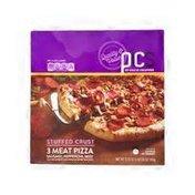 PICS Stuffed Crust 3 Meat Pizza