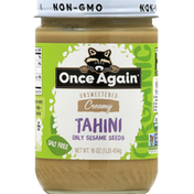 Once Again Tahini, Salt Free, Unsweetened, Creamy