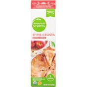 Simple Truth Organic Pie Crusts, Unroll & Bake, 9 Inch
