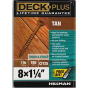 Deck Plus Screws, Wood & Fence, Tan, 1.25 Inch