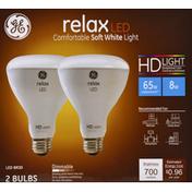 GE Light Bulb, LED, Soft White, 8 Watts