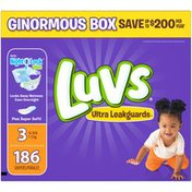 Luvs Ultra Leakguards Diapers Size 3 186 count  Diapers