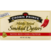 Crown Prince Smoked Oysters, with Red Chili Pepper, Mildly Spiced