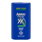 Arrid Xx Extra Extra Dry Ultra Clear Aerosol Antiperspirant Deodorant, Ultra Fresh ,Twin Pack (Two. Cans) Packaging May Vary