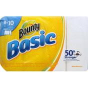 Bounty Basic Bounty Basic Select-A-Size Paper Towels, White, 8 Large Rolls = 10 Regular Rolls Towels/Napkins