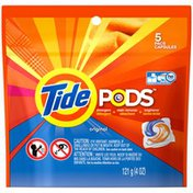 Tide PODS Original Scent HE Turbo Laundry Detergent Pacs 5-load Bag Laundry