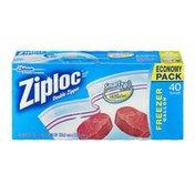 Ziploc Freezer Gallon Bags Double Zipper Economy Pack - 40 CT