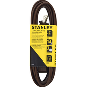 Stanley Indoor Extension Cord, Brown, 3-Outlet, 15 Feet
