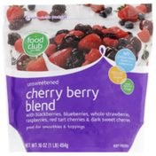 Food Club Unsweetened Cherry Berry Blend With Blackberries, Blueberries, Whole Strawberries, Raspberries, Red Tart Cherries & Dark Sweet Cherries