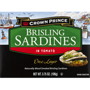 Crown Prince Sardines, in Tomato, Brisling, One Layer