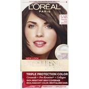 Excellence Permanent Haircolor, Creme, Mocha Ash Brown 5AB