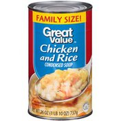 Great Value Family Size Chicken W/Rice Condensed Soup