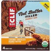 CLIF BAR Nut Butter Filled Caramel Chocolate Peanut Butter Energy Bar