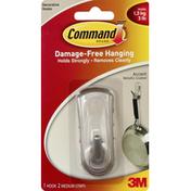 3M Command Hook, Accent, Metallic Coated