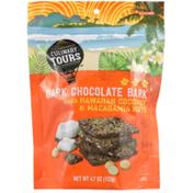 Culinary Tours Dark Chocolate Bark With Hawaiian Coconut & Macadamia Nuts