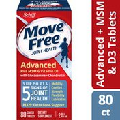 Movefree® Advanced Plus MSM and Vitamin D3 - Joint Health Supplement with Glucosamine and Chondroitin