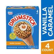 Drumstick Vanilla Caramel Frozen Dairy Dessert Cones