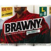 Brawny Paper Towels, Large Rolls, Full Sheet, 2-Ply