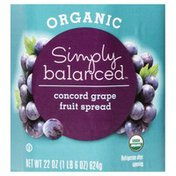 Simply Balanced Fruit Spread, Organic, Concord Grape
