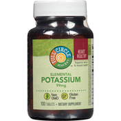Full Circle Elemental Potassium 99 Mg Supports Nerve & Muscle Health Dietary Supplement Tablets