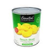 Essential Everyday Yellow Cling Peach Slices In Heavy Syrup