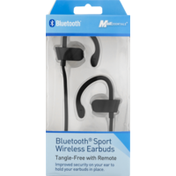 Mobilcharge Earbuds, Wireless, Bluetooth Sport, Tangle-Free with Remote, Box