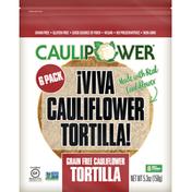Caulipower Cauliflower Tortilla, Grain Free, 6 Pack