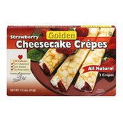 Golden Star Strawberry Cheesecake Crepes - 3 CT