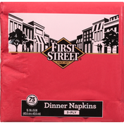 First Street Napkins, Dinner, Classic Red, 3-Ply