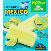 Helados Mexico Fruit Bars, Premium, Lime Margarita