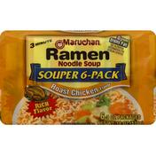 Maruchan Ramon Noodle Soup, Roast Chicken Flavor, Souper 6-Pack