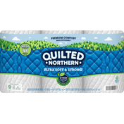 Quilted Northern Bathroom Tissue, Unscented, Ultra Soft & Strong, 2-Ply