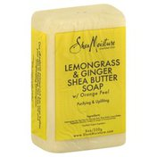 SheaMoisture Soap, Lemongrass & Ginger Shea Butter, with Orange Peel