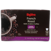 Hy-Vee Dark French Roast 100% Arabica Coffee Single Serve Cups