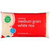 Food Club White Rice, Medium Grain, Enriched