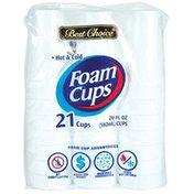 Best Choice 20 Ounce Foam Cups