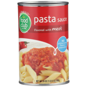 Food Club Pasta Sauce Flavored With Meat