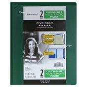 Five Star Folder, Customizable Pocket & Prong, 2 Pocket