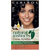 Clairol Natural Instincts Non-Permanent Hair Color Crema Keratina Hair Color Blue Black 2BB Blueberry Creme 1 Kit  Female Hair Color