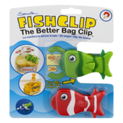 Shrockie Fish Clip Bag Clip