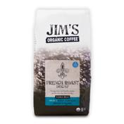 Jim's Organic Coffee French Roast Decaf, Dark Roast, Whole Bean Coffee