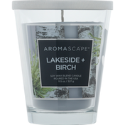 Aromascape Candle, Soy Wax Blend, Lakeside + Birch