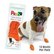 PawZ Disposable/Reusable Orange Dog Boots