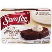 Sara Lee Pound Cake, Double Chocolate, Slices