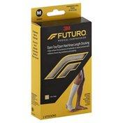 FUTURO Stockings, Open Toe/Open Heel Knee Length, Unisex, Medium, Beige