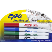 Expo Dry Erase Markers, Low Odor, Ultra Fine Tip