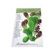 Botanical Interests Organic Market Day Lettuce Mesclun Baby Greens Seeds