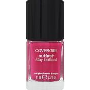 CoverGirl Outlast Stay Brilliant COVERGIRL Outlast Stay Brilliant Nail Gloss, Leading Lady .37 fl oz (11 ml) Female Cosmetics