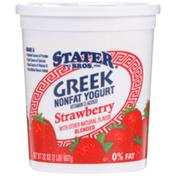 Stater Bros Greek Strawberry Yogurt
