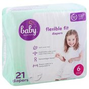 Baby Basics Diapers, 6 (35 lb & Over), Flexible Fit